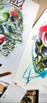 тату роза эскиз цветной 16.09.2019 №013 – tattoo rose sketch colored – tatufoto.com