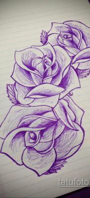 тату цветок женский эскиз 14.09.2019 №007 – tattoo flower female sketch – tatufoto.com