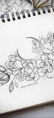 тату цветок женский эскиз 14.09.2019 №009 – tattoo flower female sketch – tatufoto.com
