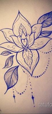 тату цветок женский эскиз 14.09.2019 №011 – tattoo flower female sketch – tatufoto.com
