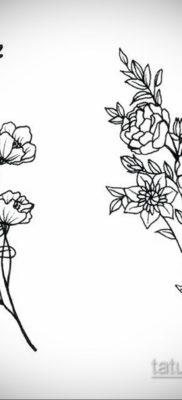 тату цветок женский эскиз 14.09.2019 №039 – tattoo flower female sketch – tatufoto.com