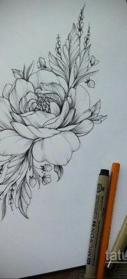 тату цветок женский эскиз 14.09.2019 №043 – tattoo flower female sketch – tatufoto.com