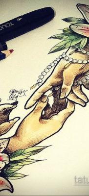 тату цветок женский эскиз 14.09.2019 №045 – tattoo flower female sketch – tatufoto.com