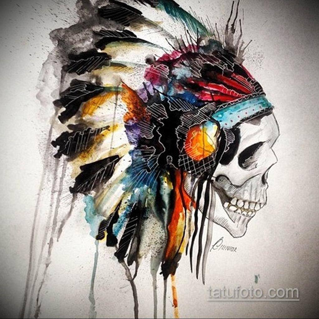 тату череп на кисти эскиз 17.09.2019 №004 - skull tattoo on brush sketch - tatufoto.com