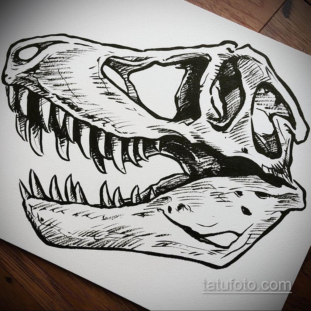 тату череп на кисти эскиз 17.09.2019 №007 - skull tattoo on brush sketch - tatufoto.com