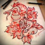 тату эскизы змей цветные 16.09.2019 №004 - colored snake tattoo designs - tatufoto.com