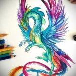 феникс эскизы тату цветны 16.09.2019 №027 - phoenix tattoo sketches colore - tatufoto.com