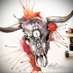 цветные тату эскизы черепа 16.09.2019 №009 - colored skull sketches - tatufoto.com