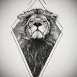 эскизы женских тату льва 14.09.2019 №023 - sketches of female lion tattoos - tatufoto.com