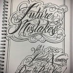 эскизы женских тату надписи 14.09.2019 №003 - sketches of female tattoo let - tatufoto.com