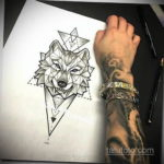 эскизы тату женские волк 14.09.2019 №015 - female wolf tattoo sketches - tatufoto.com