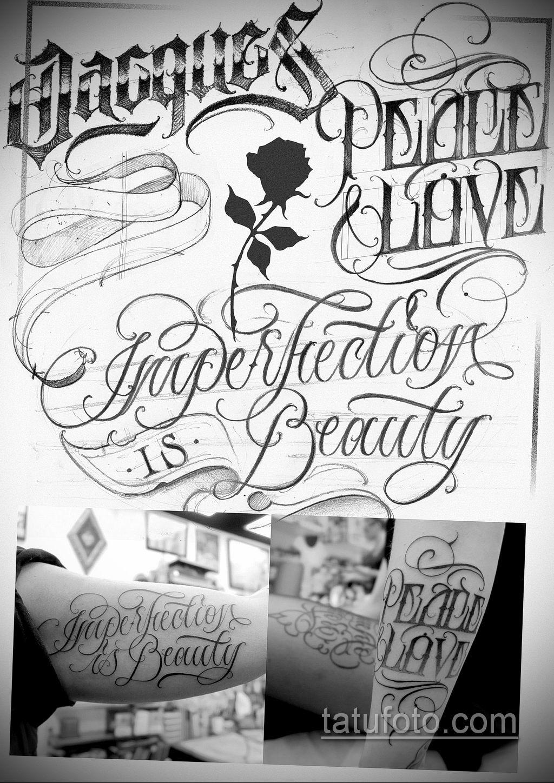 эскизы тату на руку надписи 14.09.2019 №020 - hand lettering tattoo sketches - tatufoto.com