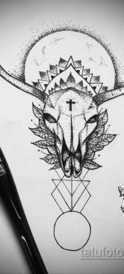 эскизы тату черепа животных 17.09.2019 №016 – animal skull tattoo designs – tatufoto.com