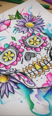 эскизы тату черепа красивые 17.09.2019 №005 – Skull tattoo designs beautiful – tatufoto.com