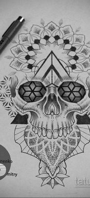 эскизы тату черепа на ногу 17.09.2019 №004 – Sketch of a tattoo of a skull on – tatufoto.com