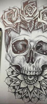 эскизы тату черепа на ногу 17.09.2019 №007 – Sketch of a tattoo of a skull on – tatufoto.com