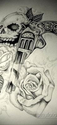 эскизы тату черепа на ногу 17.09.2019 №012 – Sketch of a tattoo of a skull on – tatufoto.com