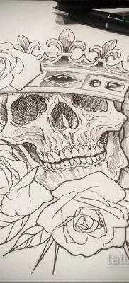 эскизы тату черепа на ногу 17.09.2019 №014 – Sketch of a tattoo of a skull on – tatufoto.com