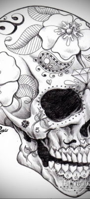 эскизы тату черепа черно белые 17.09.2019 №004 – Skull tattoo sketches bla – tatufoto.com