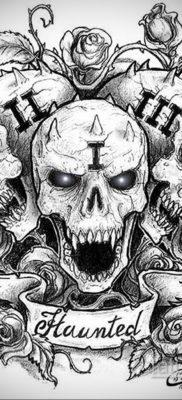 эскизы тату черепа черно белые 17.09.2019 №009 – Skull tattoo sketches bla – tatufoto.com
