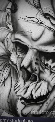 эскизы тату черепа черно белые 17.09.2019 №013 – Skull tattoo sketches bla – tatufoto.com