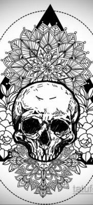 эскизы тату черепа черно белые 17.09.2019 №014 – Skull tattoo sketches bla – tatufoto.com