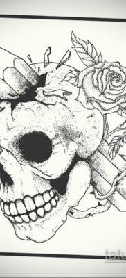 эскизы тату черепа черно белые 17.09.2019 №020 – Skull tattoo sketches bla – tatufoto.com