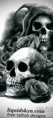 эскизы тату черепа черно белые 17.09.2019 №026 – Skull tattoo sketches bla – tatufoto.com