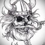 эскизы тату черепа черно белые 17.09.2019 №032 - Skull tattoo sketches bla - tatufoto.com