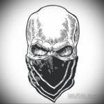эскизы тату черепа черно белые 17.09.2019 №044 - Skull tattoo sketches bla - tatufoto.com
