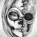 эскизы тату черепа черно белые 17.09.2019 №055 - Skull tattoo sketches bla - tatufoto.com