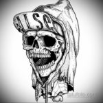 эскизы тату черепа черно белые 17.09.2019 №060 - Skull tattoo sketches bla - tatufoto.com