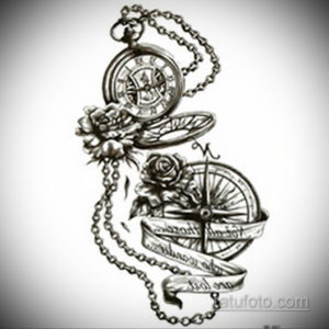 эскиз для тату мужские часы 19.09.2019 №026 - sketch for tattoo men watch - tatufoto.com