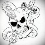 эскиз для тату ножа на груди 23.09.2019 №008 - sketch for tattoo knife on the - tatufoto.com