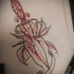эскиз для тату ножа на пальце 23.09.2019 №006 - sketch for tattoo knife on a f - tatufoto.com