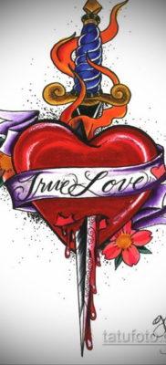 эскиз для тату нож в сердце 23.09.2019 №018 – sketch for tattoo knife in the h – tatufoto.com