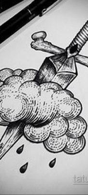 эскиз для тату нож в спине 23.09.2019 №006 – sketch for tattoo knife in the ba – tatufoto.com
