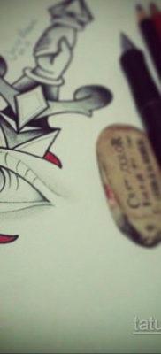 эскиз для тату нож глаза 23.09.2019 №003 – sketch for tattoo knife eyes – tatufoto.com