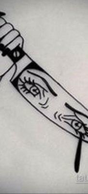 эскиз для тату нож глаза 23.09.2019 №004 – sketch for tattoo knife eyes – tatufoto.com