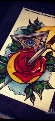 эскиз для тату нож глаза 23.09.2019 №011 – sketch for tattoo knife eyes – tatufoto.com