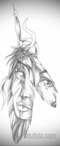 эскиз для тату перо индейца 26.09.2019 №004 -sketch feather tattoo- tatufoto.com