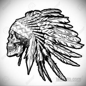 эскиз для тату перо индейца 26.09.2019 №057 -sketch feather tattoo- tatufoto.com