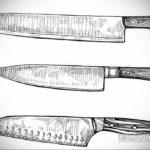 эскиз для тату поварской нож 23.09.2019 №001 - sketch for tattoo cook knife - tatufoto.com