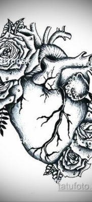 эскиз для тату простое сердце 15.09.2019 №036 – sketch for simple heart tatto – tatufoto.com