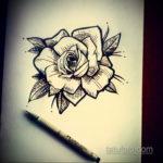 эскиз для тату роза простая 15.09.2019 №080 - sketch for rose tattoo simple - tatufoto.com