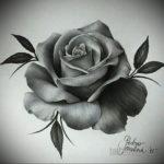 эскиз для тату роза простая 15.09.2019 №087 - sketch for rose tattoo simple - tatufoto.com