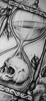 эскиз для тату смерть с часами 19.09.2019 №011 – sketch for tattoo death wit – tatufoto.com