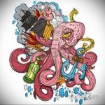 эскиз для тату фрегата 27.09.2019 №003 -sketch frigate tattoo- tatufoto.com