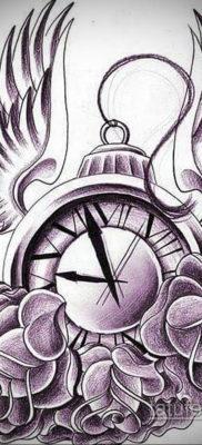 эскиз для тату часы время 19.09.2019 №010 – sketch for tattoo watch time – tatufoto.com