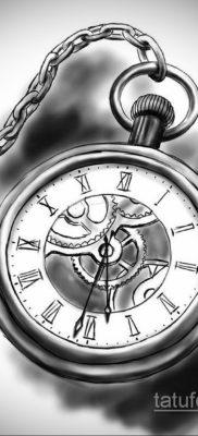 эскиз для тату часы время 19.09.2019 №032 – sketch for tattoo watch time – tatufoto.com